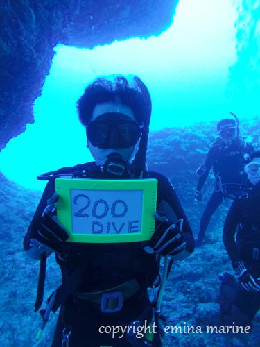 200本達成ダイビング