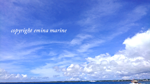 真夏の宮古島の海