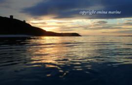 夕焼けのクリマビーチ
