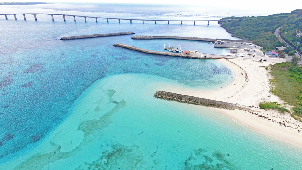 クリマビーチのドローン画像
